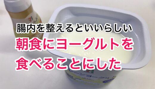 朝食にヨーグルトを食べることにしました。腸内環境を整えるといいと聞いたので。