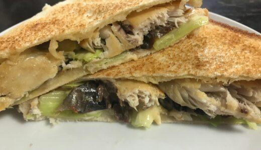 【父ちゃん手料理】ホットサンド鯖サンド。見た目が悪くて味もイマイチ(爆)